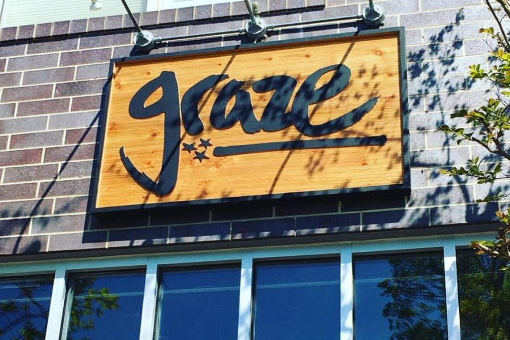 Graze Restaurant Sign