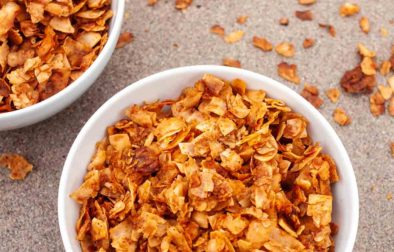 two bowls of quick coconut bacon