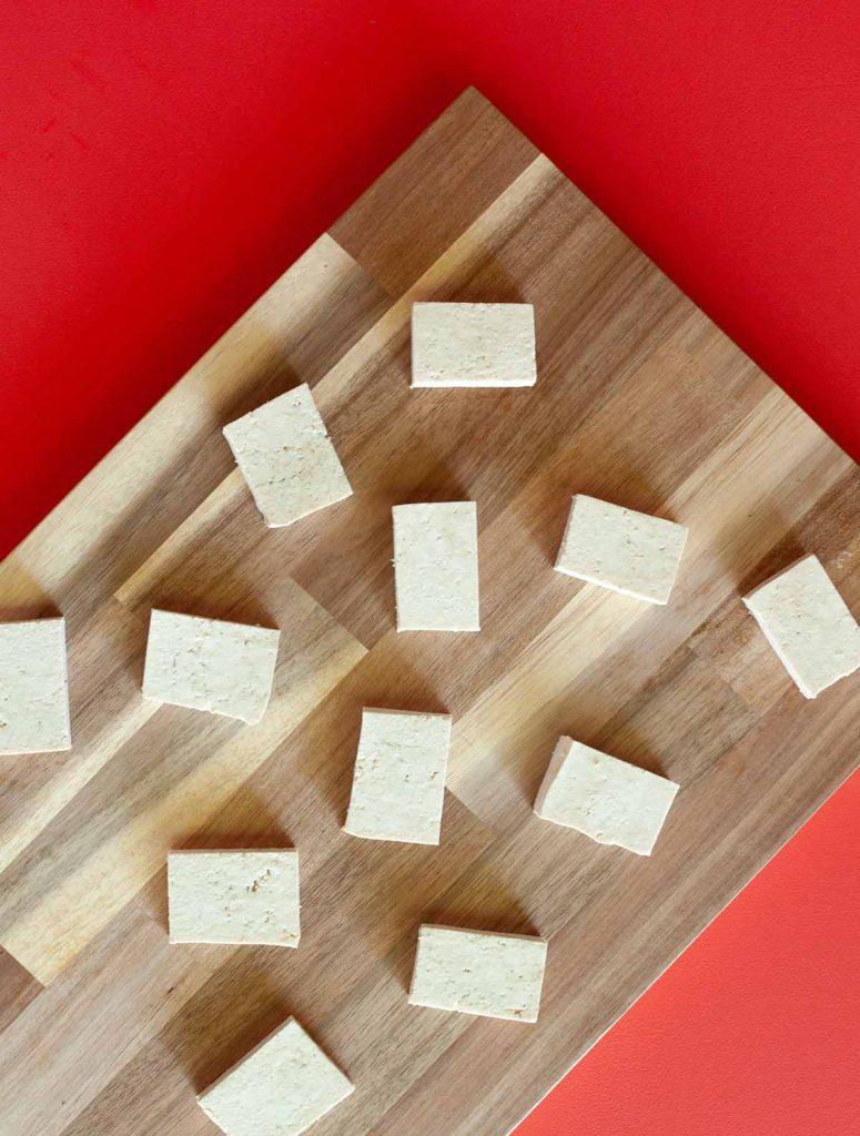salted tofu pieces