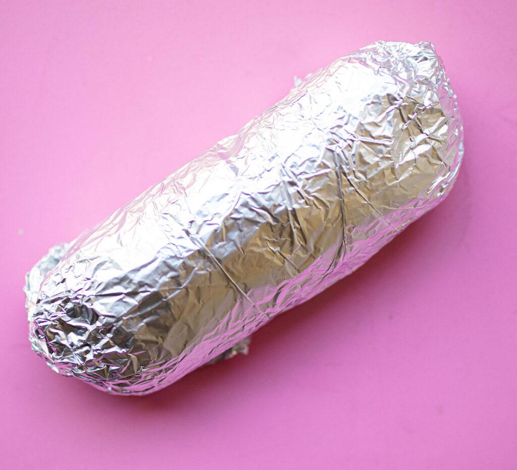 seitan dough wrapped in foil
